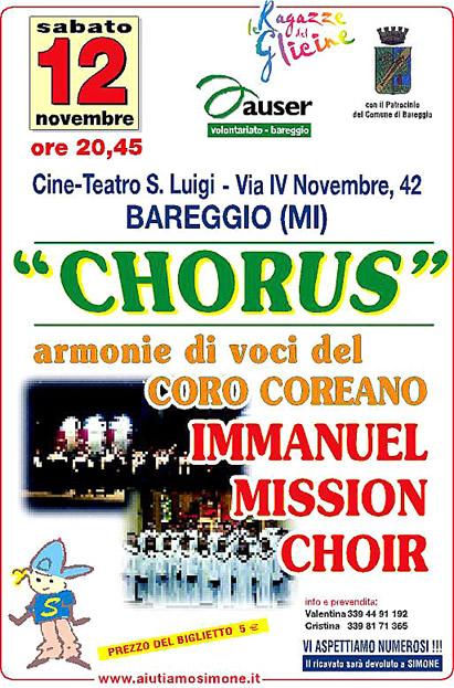 Volantino Chorus per Simone